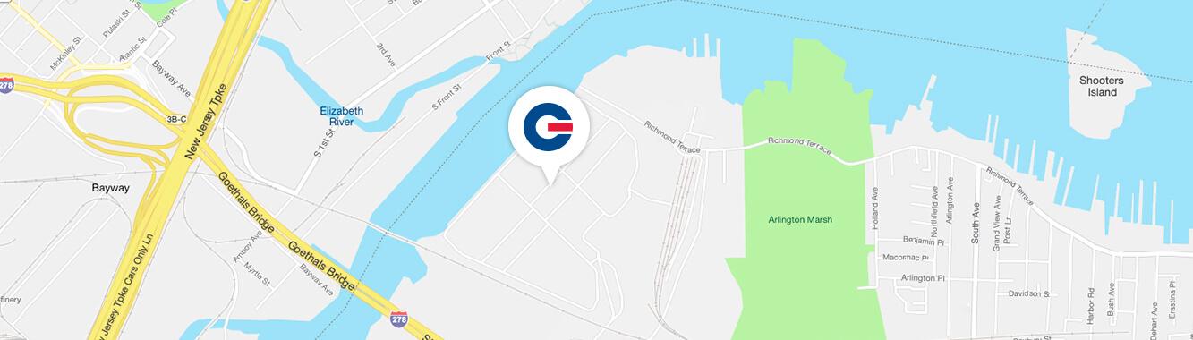 map of New York GCT location